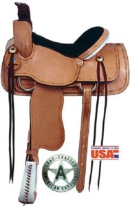 "No. 1635High Roper Saddle 15 or 16"" Seat (BlemishSale)"