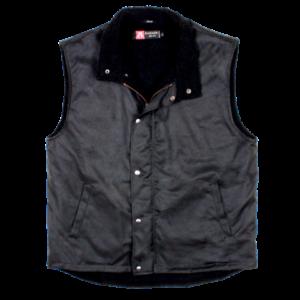 No. 4V30Kakadu Kiwi Work Vest, Black, Oilskin