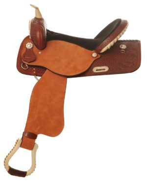 "No. 440Harper Racer Barrel Saddle, Square Skirt, 14"" 15"" 16"""
