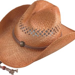 No. 3204-43Vented Hiker Raffia Straw Hat w/ chincord