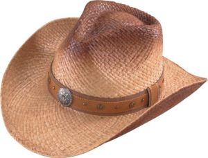 No. 3228-43Australian Stained Raffia Straw with conchos