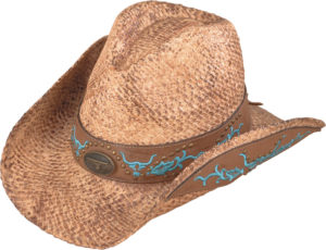 No. 3233-43Australian Raffia Straw Hat w/ Embroidered Band