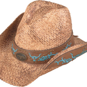 No. 3233-43Australian Raffia Straw Hat w/ Embroidered Band