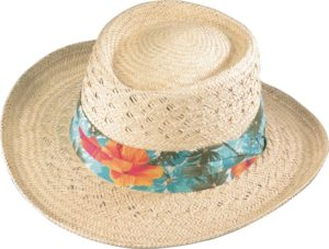No. 3135-73Gambler in Raffia Straw w/ Hawaiian Band