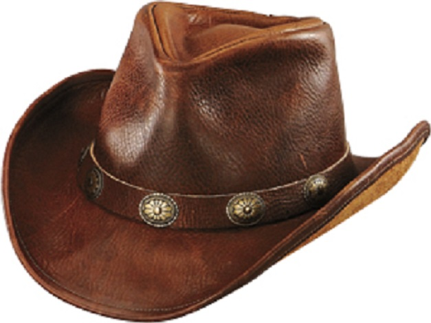 5ca1b9ad No. 1111-23Walker U-Shape it Hat with Concho Band, Brown