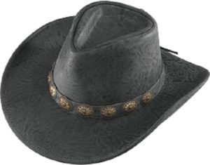 No. 1138-37Australian, Crunch leather w/ Concho Band, Black