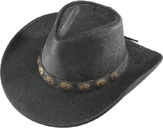 a80212df No. 1138-37Australian, Crunch leather w/ Concho Band, Black