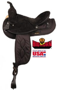 No. A00605Big Horn Synthetic Gaited Horse Saddle, Brown, 16""