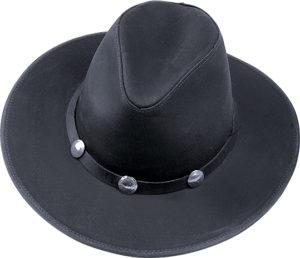 No. 023A-14Dude, Dakota leather w/ buffalo conchos, black