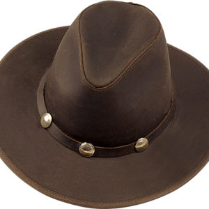 No. 023A-75Dude, Dakota leather with Buffalo nickels, Brown