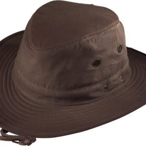 No. 4450-8110 Pt. Explorer Oilcloth Hat, Brown