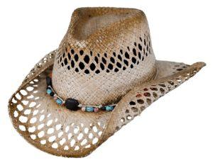 No. 15065Mesquite Raffia Straw Hat, Tea Color