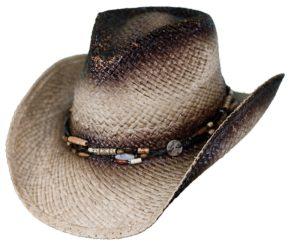 No. 15116Sassafras Raffia Straw Hat, Tea Color
