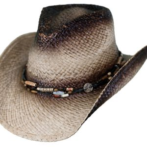 No. 15116Sassafras Raffia Straw Hat, Tea Color