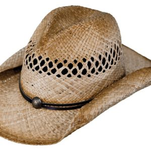 No. 1575Eureka Raffia Straw Hat, Natural Color