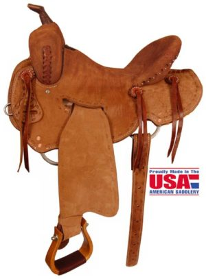 "Big Horn A00853Roughout Shooter Saddle. 15"", 16"" Seat"