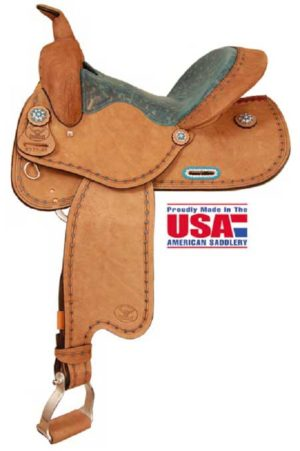 "Big Horn A00851Ranch Cutter Saddle, Roughout, 16"" Seat"