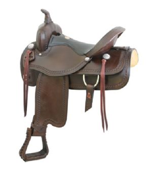 "No. 293406Simco Mountain Flex Trail Saddle, 16"" 17"" Seat"