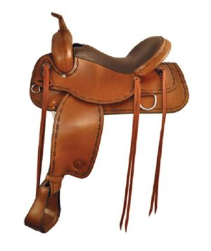 "No. 292520Conroe Trail Saddle by Tex Tan, 16"", 17"", 18"" Seat"