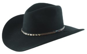 Sonora Black 4X 100% Wool Felt Hat by Cardenas Hats
