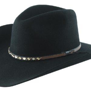 Sonora Black 4X 100% Wool Felt Hat by Cardenas Hats
