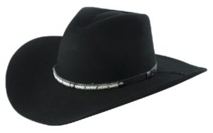 Santa Cruz Black 4X Woll Hat by Cardenas Hats