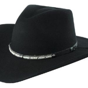 Santa Cruz Black 4X Woll Hat by Cardenas Hats