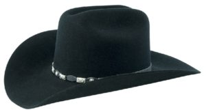 Tucson Black 4X 100% Wool Felt Hat by Cardenas Hats