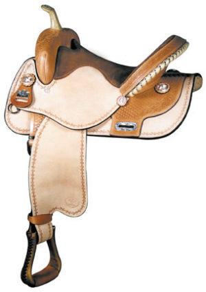 Big Horn A01463-14 & A01563-15 Barrel Racer Roughout Saddle.
