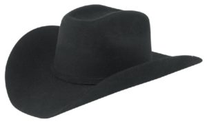 Monterrey Black 3X 100% Wool Felt Hat by Cardnas Hats
