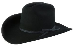 Ranchero Black 3X 100% Wool Felt Hat by Cardnas Hats