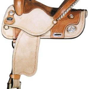 Big Horn A01464-14 & A01564-15 Barrel Racer Roughout Saddle