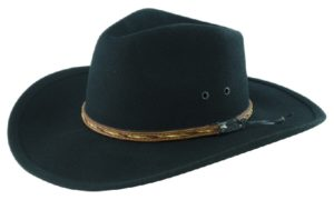 The Dingo Black Crushable Wool Felt Hat by Cardenas Hats