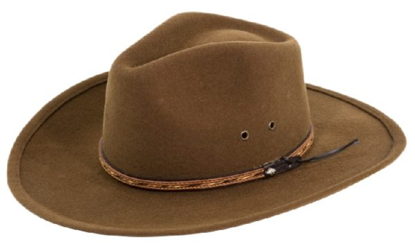 The Dingo Cocoa Crushable Wool Felt Hat by Cardenas Hats