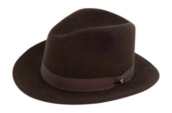 The Sutton Chocolate Wool Felt Fedora By Cardenas Hats
