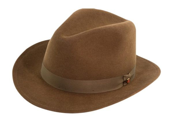 The Sutton Cocoa Wool Felt Fedora By Cardenas Hats