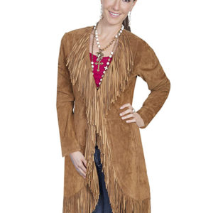 No. L19 Fringe Coat Boar Suede Cinnamon By Scully