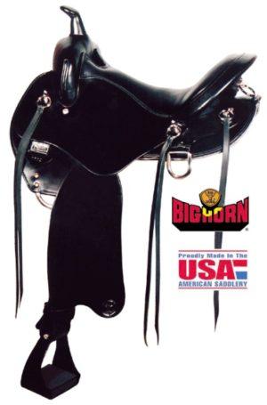"Big Horn A01702-17Walking Horse Black Trail Saddle, 17"""