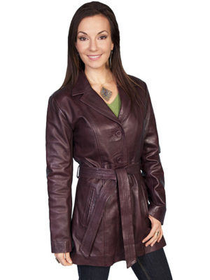 No. L51 Hand Finished Lamb Coat, Wine Color