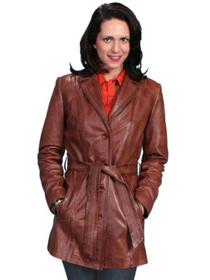 No. L51 Hand Finished Lamb Coat Antique Brown