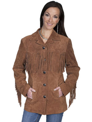 No. L74 Suede Fringe Jacket Boar Suede, Cinnamon Color