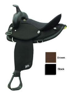 "No. 20501Abetta Cordura Nylon Saddle, QH Bars, 12 - 17"" Seat"