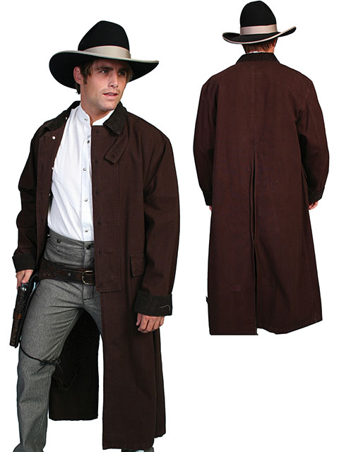 RW107 Canvas Duster, Color: Walnut