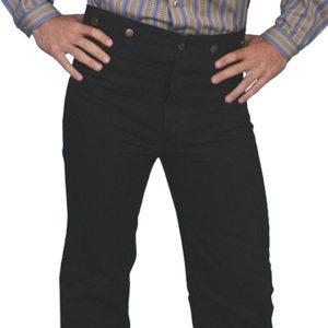 No.  RW040 Canvas Pants 100% Cotton Canvas. Color Black