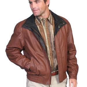 No. 48 Double Collar Featherlite Jacket, Color #33 Brown