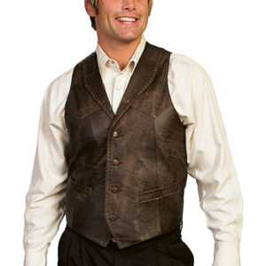 No. 206 Lamb Whip Stitch Vest, Color #161 Brown Buff