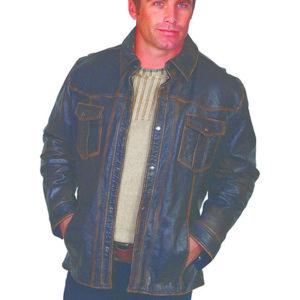 No. 250 Leather jacket Lamb. Color: #196 Black
