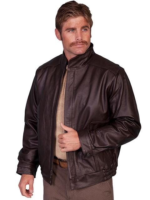 No. 977 Leather Jacket Top Grain Calf, Color: Black or Brown