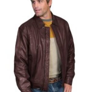 No. 978 Leather Jacket Premium Lamb, Color: #702 Chocolate/Brown