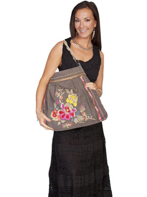No. C13 Cantina Handbag 100% Cotton, Color: Taupe